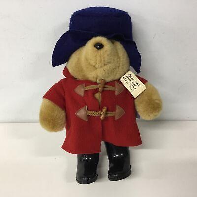 Paddington Bear Plush Bear Red Coat Blue Hat Eden Toys #622