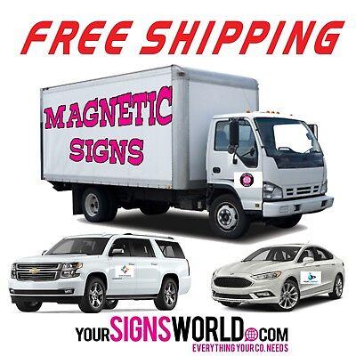 2 Car Magnet 18x24 -- Custom Magnetic Auto Truck Sign - Weatherproof