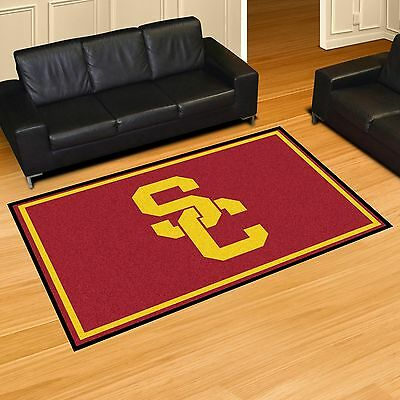 USC Trojans 5' X 8' Decorative Ultra Plush Carpet Area - Usc Decorations