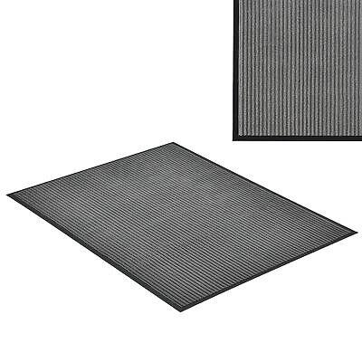 [en.casa]® Felpudo atrapasuciedad 150x90cm alfombra de entrada gris para puerta