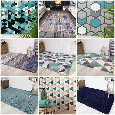 Sky Blue Navy Aqua Large Small Modern Cheap Living Room Big Area Rug Mat Carpet  - Blue Area Teppich