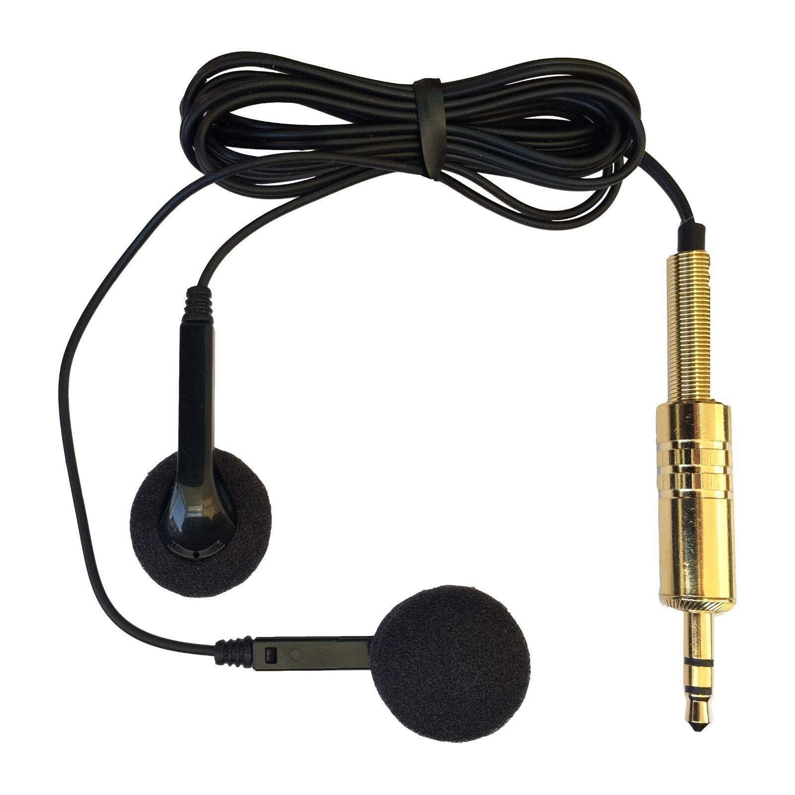 BINAURAL EAR MOUNTED STEREO MICROPHONE HIDDEN INTO HEADPHONES SENSITIVE /& CLEAR