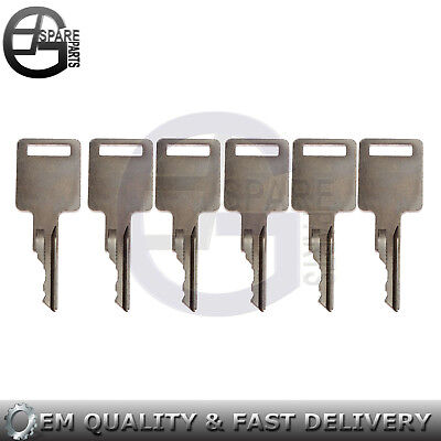 6 Ignition Keys 714602 7-146-02 For Terex Forklift 58322 58322gt Genie