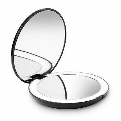 Fancii Espejo de Bolsillo Compacto Iluminado LED para Maquillaje - Aumento de...