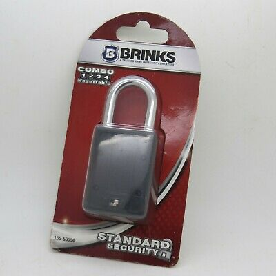New Brinks Combination Locks 165-20251 3 Digit Resettable Padlocks E