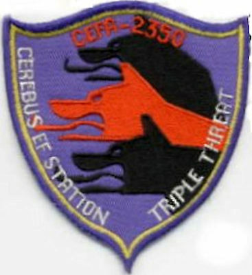 B5  Babylon 5 Cerebus Station Embroidered Squadron Iron-on  Patch