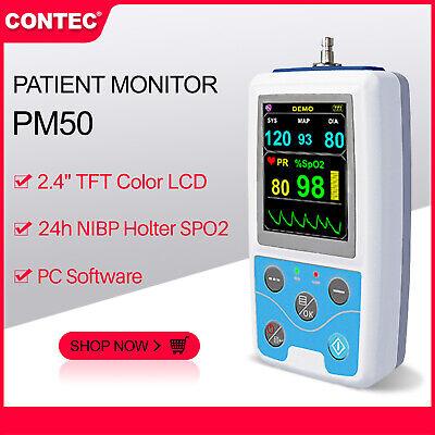 24hours Ambulatory Blood Pressure Nibp Spo2 Pr Usb Patient Monitorsoftware Ce