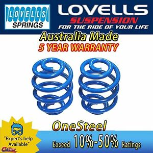 Front Super Low Coil Springs For Toyota Corolla & Seca KE70 Wagon P/Van 81-85