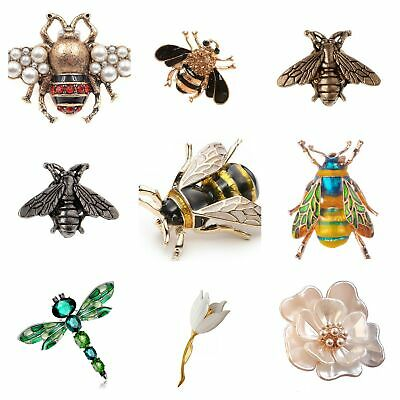 Brooch Bee Bird Animal Flower Insect Lapel Pin Broach Vintage Bridal+Gift Bag UK