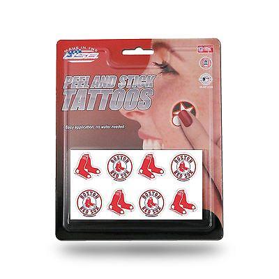 Boston Red Sox Tattoos Peel & Stick Tattoos 8 Piece Set TAT - Red Sox Tattoos