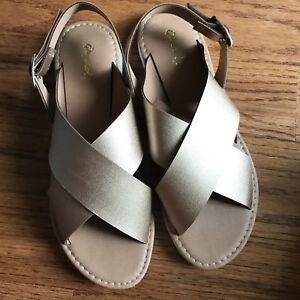 Woman's Rose Gold Sandals size 8