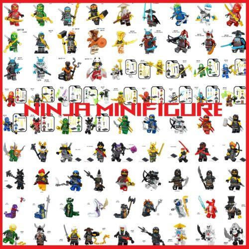 Ninjago Minifigures Wu JAy Kai Lloyd Nya Cole Zane Ice Emperor Char Akita Muzzle