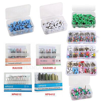 Dental Diamond Cups Composite Polishing Polisher Kit For Low Speed Handpiece