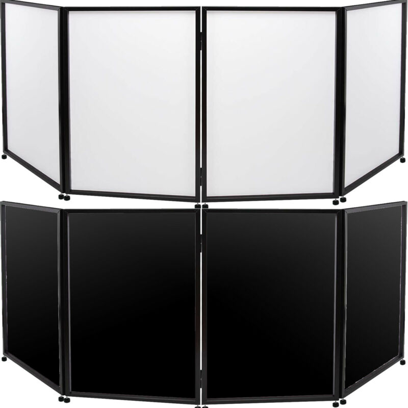 DJ Event Facade White+Black Scrim Metal Frame Booth+Travel Bag Case
