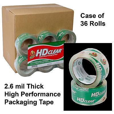Carton Of 36 Rolls Duck Hd Clear 2.6 Mil Packaging Tape 1.88 X 54.6 Yd.