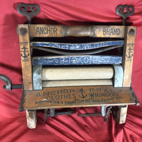 Antique Anchor Brand wash tub clothes wringer #770, by Lovell Mfg., Erie,PA