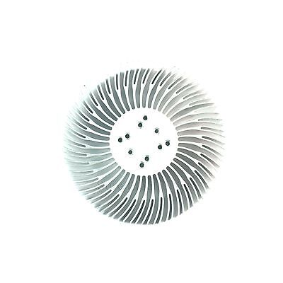 2pcs 90x30mm Round Spiral Aluminum Alloy Heat Sink For 1w-10w Led Silver White