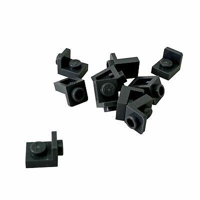10 NEW LEGO Bracket 1 x 1 - 1 x 1 Inverted Dark Bluish Gray