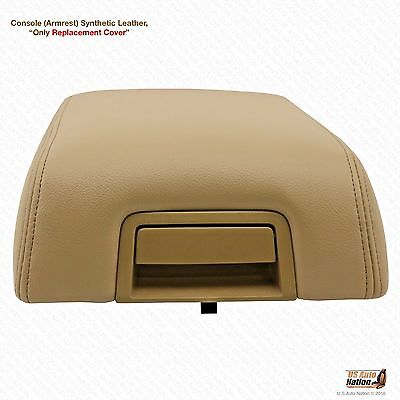 04-08 F150 Lariat Bucket Seat sentatic Leather Armrest Center Console Cover Tan