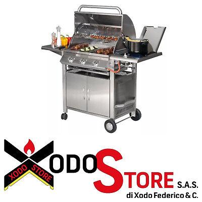 Barbecue a gas in acciaio inox SUNDAY modello TEXAS 3 - invia...