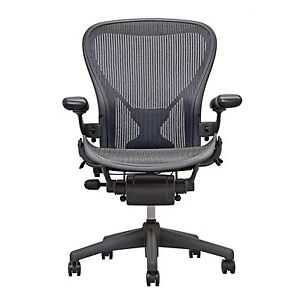 Superieur Herman Miller Fully Loaded Posture Fit Size B Aeron Chairs   Open Box