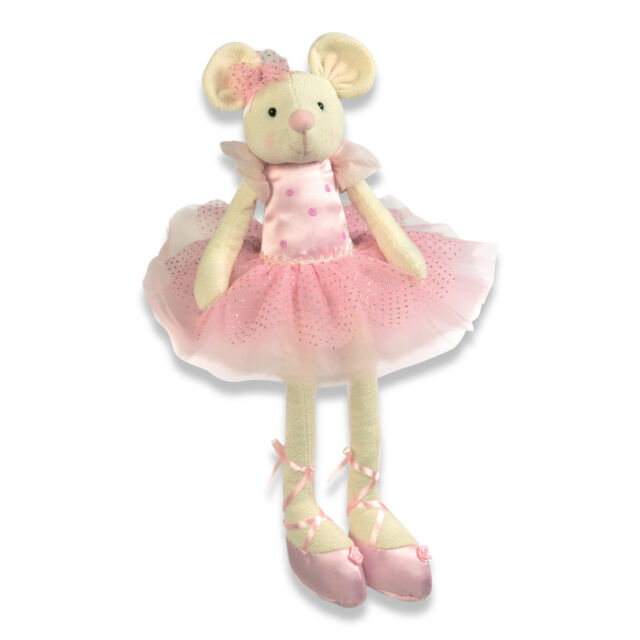 Kids Girls Pink Ballet BALLERINA Mouse Plush SOFT Cuddly TOY 60cm - LUCY LOCKET