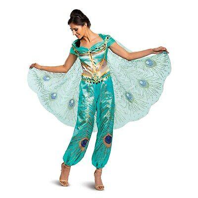 2019 Movie Costumes (Disney's Aladdin - 2019 Movie - Jasmine Deluxe Adult Costume)