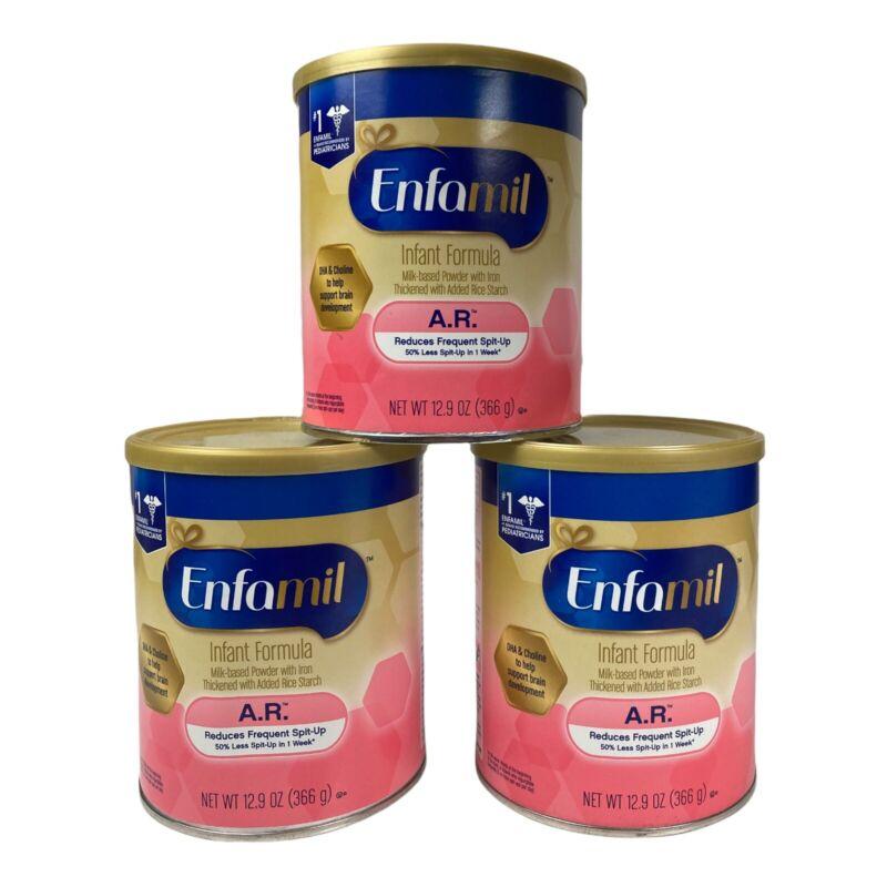 Enfamil Infant Formula AR Powder 12.9 oz Cans EXP 8/22 & 10/22 SEALED