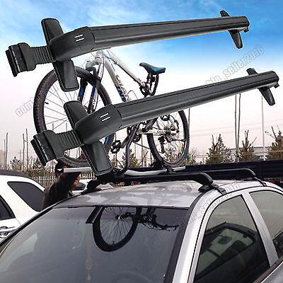 Car Top Roof Cross Bar Luggage Cargo Carrier Rack Window Frame w/Anti-theft Lock