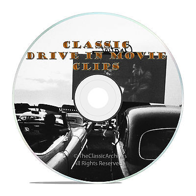 Classic Drive In Movie Theatre Intermission Ads  Promos  Commercials Clips  J36