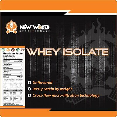 3lb Bulk Whey Protein ISOLATE (NOT concentrate) Manufacturer Direct UNFLAVORED 1