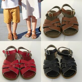 SOLD Pending pick up Black, Red and Tan Saltwater Sandals sz US8
