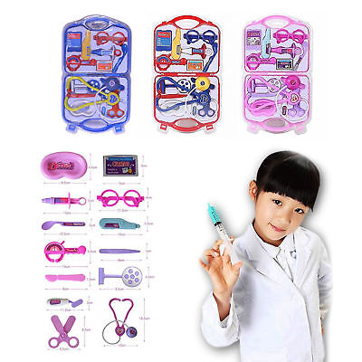 Kids Doctor Nurse Carry Case Medical Kit Play Set Role Play Toy Best Gift