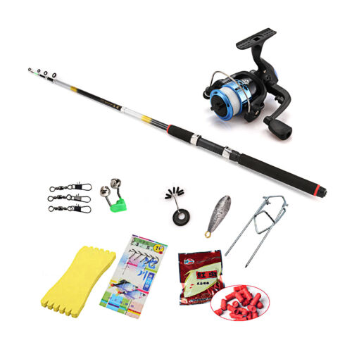 New telescopic coarse rod reel starter fishing rod set kit for Best fishing pole for beginners
