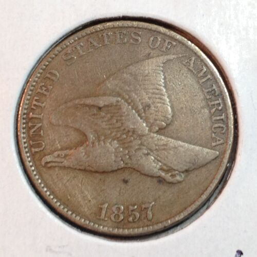 1857   VF   Flying Eagle Cent   Nice Coin