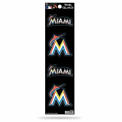 Miami Marlins Decal Car Sticker The Quad 4 Pack Stickers Set