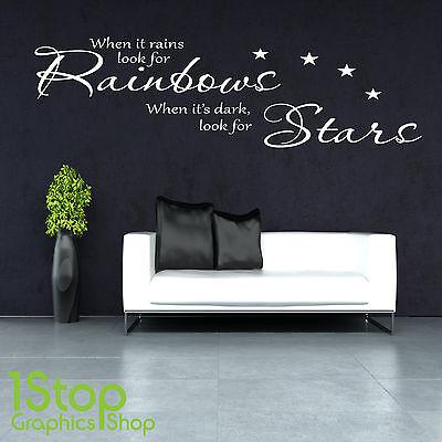 fkleber Zitat - Schlafzimmer Lounge Regenbogen Wandkunst (Regenbogen-wand-kunst)