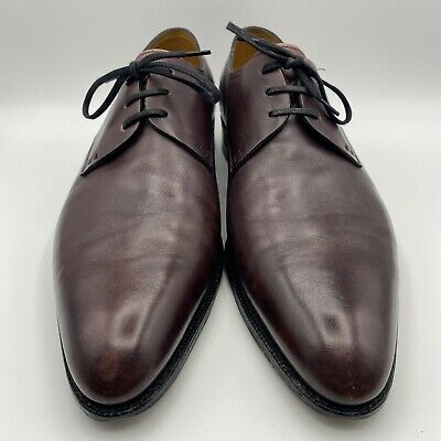 John Lobb Men's St Crepin 2013 Deep Purple Calf Leather Derby UK 10 US 10.5