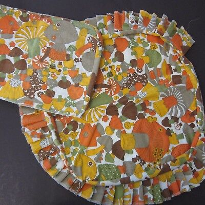 Vintage Toaster and Casserole Cover 60s 70s Mushroom Print Kitchen Decor Hippy