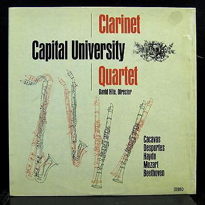 Capital University Clarinet Quartet Desportes Cacavas Lp Vg  Coronet Private Usa