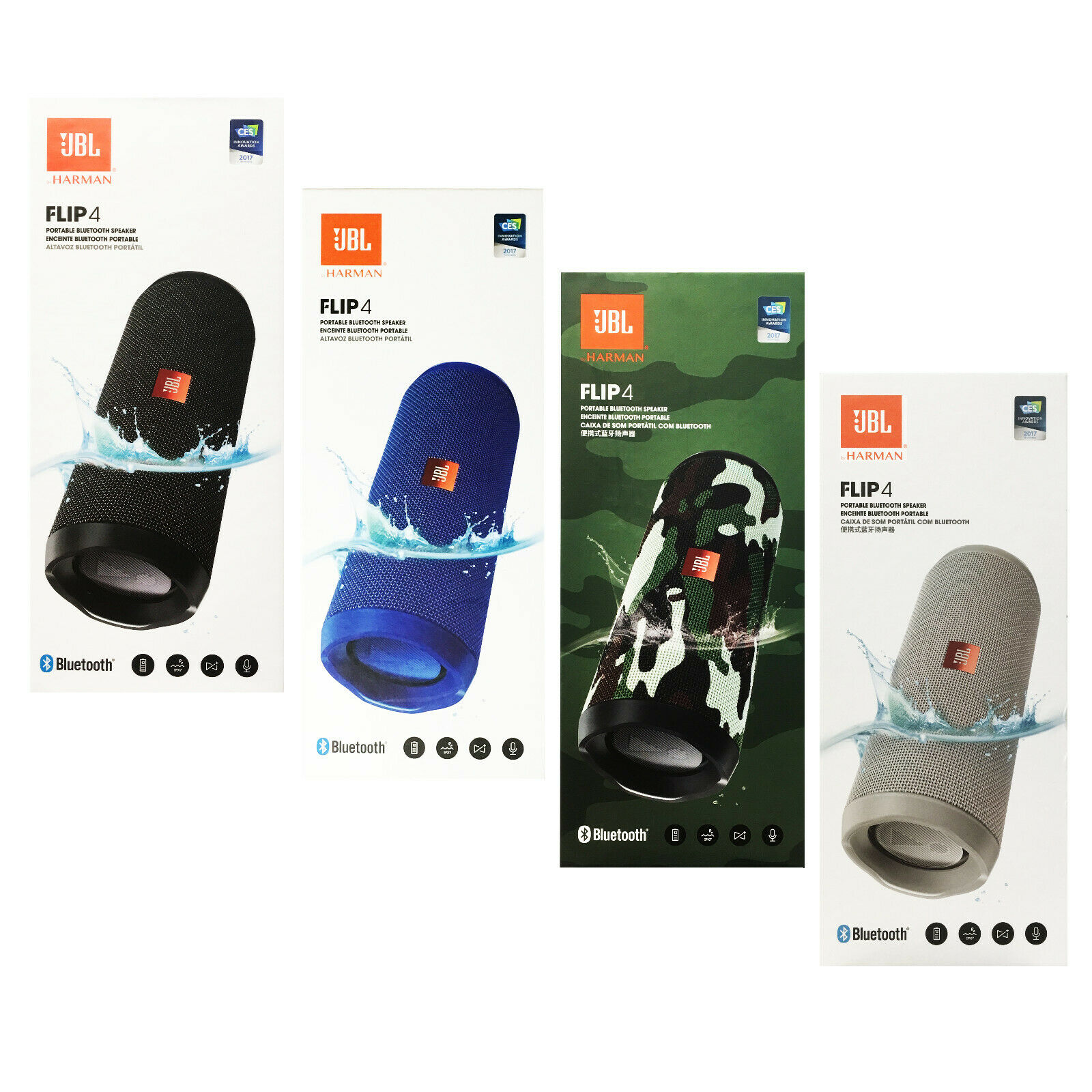NEW JBL Flip 4 Waterproof Portable Bluetooth Speaker