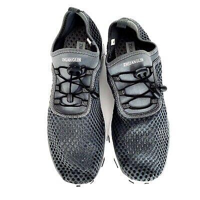 Zhuanglin Men's Quick Drying Aqua Water Shoes Black Size EU 47 US 14