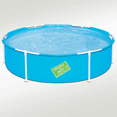 "My First Frame Pool 60""x15"" Mini Round Kids Wading Kiddie Swimming Pool Blue"