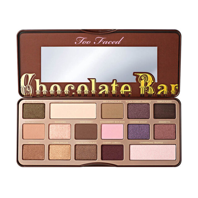 Up 16 Colors Too Faced Pro Shimmer Chocolate Bar Cosmetic Eyeshadow Palette