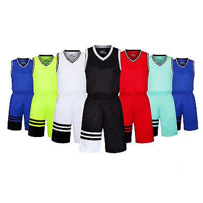 NEW Season DIY Running Blank Basketball Jersey Kit Uniforms Suits Customization