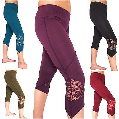 LACY PIXIE LEGGINGS Lace Festival Psy Trance Pointy Elven Party Wear Lycra Cyber ()