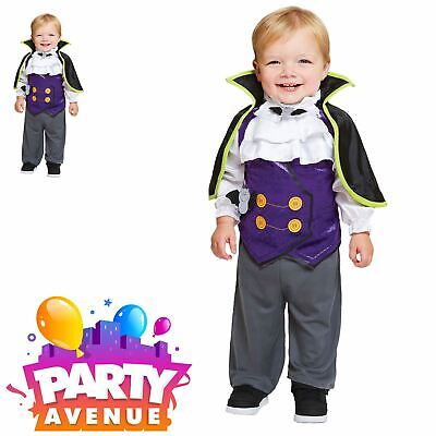 Baby Toddler Dinkie Dracula Halloween Boys Fancy Dress Costume  - Toddler Dracula Halloween Costume