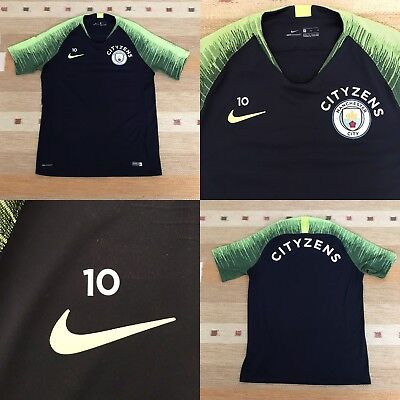 Manchester City Nike Player Issue Worn VAPORKNIT Training T-Shirt Size M Aguero