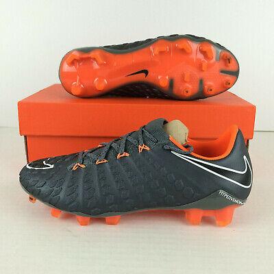 4ae38ac2b81 Nike Hypervenom Phantom III 3 Elite FG Soccer Cleats Grey Orange Men 5  Women 6.5