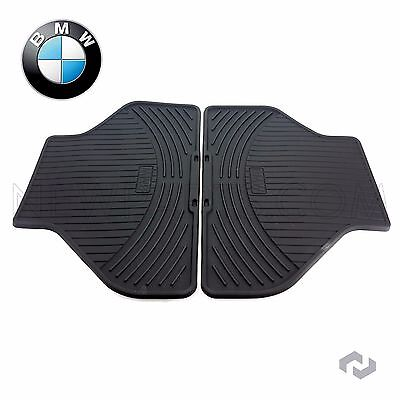 For BMW X5 X6 07-14 Rear All Weather Rubber Black Floor Mat Set Genuine
